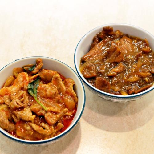 plat porc au caramel ou sauce saté