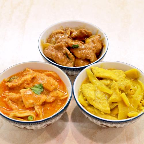 plat poulet thaï sauce caramel curry jaune